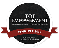 Finalist Badge - Top Empowered Business of the year 2021